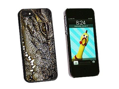 ouucase Crocodile Eye Reptile Skin Coque pour iPhone 5/5S-Noir DIY HD Housse PC Pour New Design