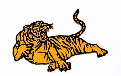 rabana Head Bengal Tiger Big Cat Wild Animal Lady Rider Biker Cartoon Kids Kinder Cute Animal Patch für Heimwerker-Applikation Eisen auf Patch T Shirt Patch Sew Iron on gesticktes Badge Schild Kostüm