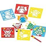 Stampini Natalizi Lavabili per Bambini, per Creare Decorazioni Fai Da Te di Natale (set da 6)