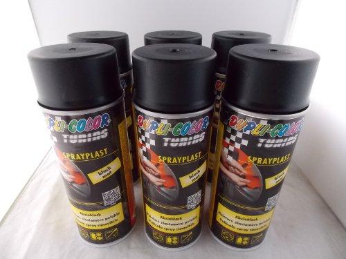 dupli color sprayplast Dupli Color Sprayplast Abziehlack Sprühfolie schwarz matt 388033 6x400ml Spraydosen insgesamt 2400ml