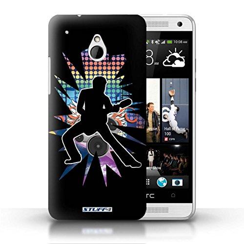 Kobalt® Imprimé Etui / Coque pour HTC One/1 Mini / Atteindre Blanc conception / Série Rock Star Pose étendre Noir