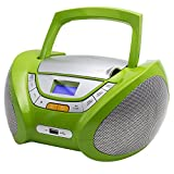 Lauson CP444 CD-Radio mit CD MP3 USB Player Tragbares Kinder Radio Boombox tragbarer CD Player, Grün