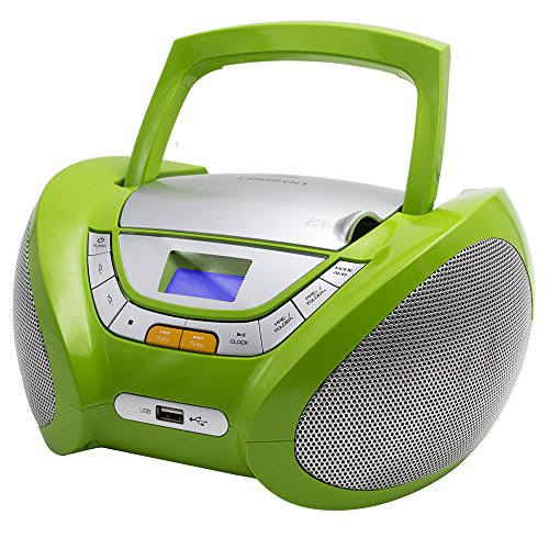 Lauson CP444 CD-Radio mit CD MP3 USB Player Tragbares Kinder Radio Boombox tragbarer CD Player, Grün