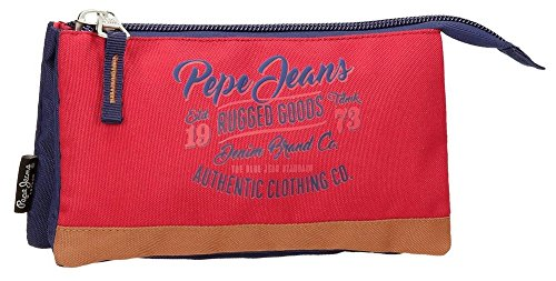 Pepe Jeans Jake Neceser de Viaje, 22 cm, 1.32 litros, Multicolor