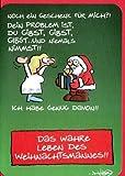 Witzige Weihnachtskarte Das wahre Leben des Weihnachtsmannes
