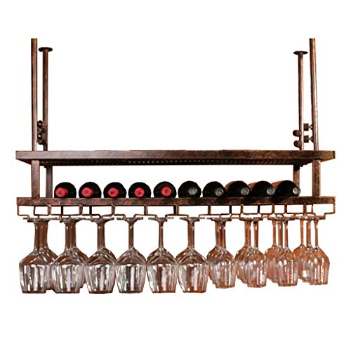XiuHUa Weinregal Hängen Weinregal Upside Down Home Bar Hohe Glasablage -50cm, 60cm, 80cm, 100cm, 120cm Wein Vitrine (Color : B, Size : 80cm)
