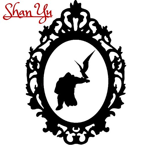 Disney Villain Schurke Silhouette Halloween Gothic Sticker Aufkleber Shan Yu Wall Window Home Haunted Haus Vinyl Abziehbild Decal