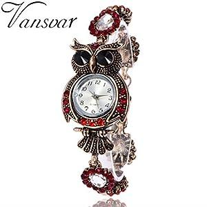Wrist Watch ,U.Expectating 2017 Vintage Owl Fashion Womens Quartz Bracelet Brand Watches Gift Wrist Watch