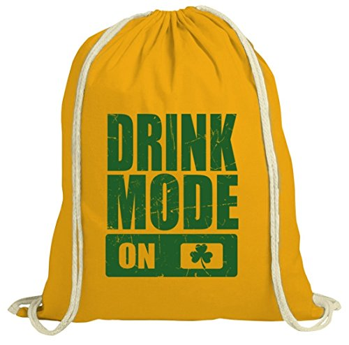 Irland St. Patrick's Day natur Turnbeutel Gym Bag Drink Mode On gelb natur