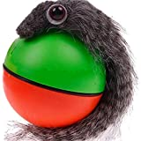 MING Pet toys Plastic Faux Fur Chaser ball Electric Wizard Mouse Weasel Ball for Dog Pets Puppy Cat Children (Random Delivery)