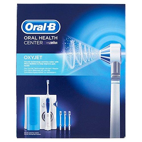 Oral-B OxyJet-Munddusche (elektrische Zahnbürste mit Ersatzdüsen OxyJet, schützt vor Karies, Mundgeruch und Zahnfleischentzündung, powered by Braun)