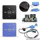 Kabelloser Bluetooth-kompatibler Kopfhörer-Adapter, Empfänger mit Mikrofon für Musik-Handy, Mikrofon, Clip-On Style, tragbar, Sport, Stereo, Freisprecheinrichtung, AUX 3,5 mm AUX