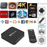 Easypro™ Lenovo Vibe X3 (Youth) Compatible MXQPRO Quad Core Google Android ULTRA HD 4K TV Box With Wifi LAN Android 6.1 Smart TV Box(Make Your Normal LED TV Into Smart TV