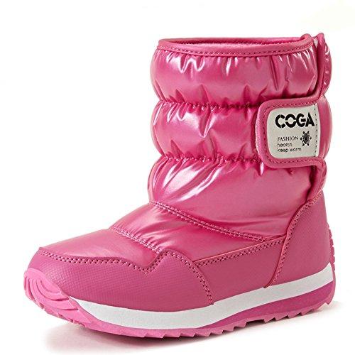 Fortuning's JDS Enfants Unisexe Chaude Bottes de neige d'hiver Bottes de coton rosé