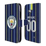 Head Case Designs Personalisierte Individuelle Manchester City Man City FC Away Kit 2018/19 Brieftasche Handyhülle aus Leder für Microsoft Lumia 640 / Dual SIM