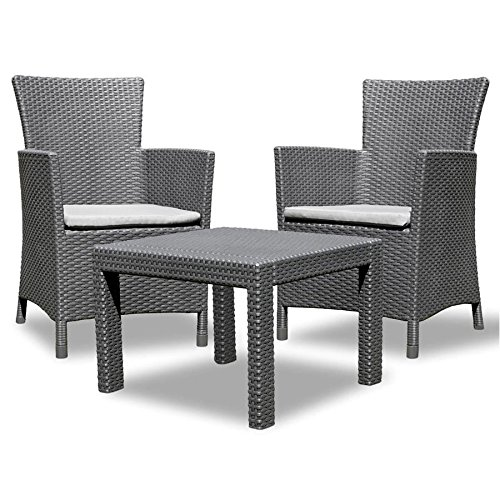 Allibert Utah Graphit Rattan Gartenmöbel Set