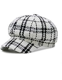 ZXW Sombrero - La versión Coreana Femenina de otoño e Invierno del Sombrero  Octogonal cálido al 743140ba280