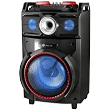 "NGS Technology Wild Dance - Altavoz de 10"" (300w, woofer usb, sd, Bluetooth, radio FM) negro y rojo"