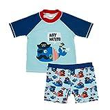Echinodon Kleinkind Bade-Set Kurzarm Shirt + Badehose Baby Schwimmanzug Badeanzug für Jungen Badebekleidung A