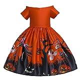 Allence Kinder Halloween Cosplay Kostüm Outfits Top Set Baby Kleidung Set Baby Mädchen Halloween Kürbis Bogen Party Kleid Kleidung Kleider