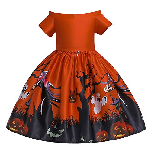 Yanhoo Kleinkind Kinder Mädchen Cartoon Prinzessin Pageant Kleid Halloween Party Brautkleid (24M...