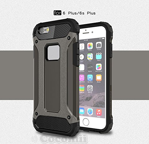 iPhone 6S Plus / 6 Plus Coque, Cocomii Commando Armor NEW [Heavy Duty] Premium Tactical Grip Dustproof Shockproof Hard Bumper Shell [Military Defender] Full Body Dual Layer Rugged Cover Case Étui Hous Brown
