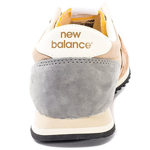 New Balance U420v1, Baskets Basses Homme, Schwarz, Taille Unique Beige et gris