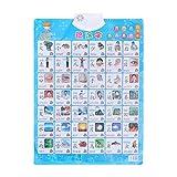 YeahiBaby Chinesische Pinyin Audio Digitale Wandkarte Elektronische Stimmkarte Vorschule Lernspielzeug für Kinder Kinder Kleinkinder - (Keine Batterie)