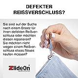 ZlideOn Zipper für Metall Reißverschluss Größe 5A messing gold Jeans, Jacken etc