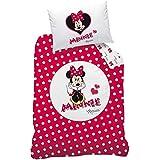 """CTI 041470 juego de cama - parrilla esmaltada en porcelana para algodón - 160 x 210 cm y 65 x 100 cm - de Minnie Mouse de Disney """"Oh My"""" diseño de"""