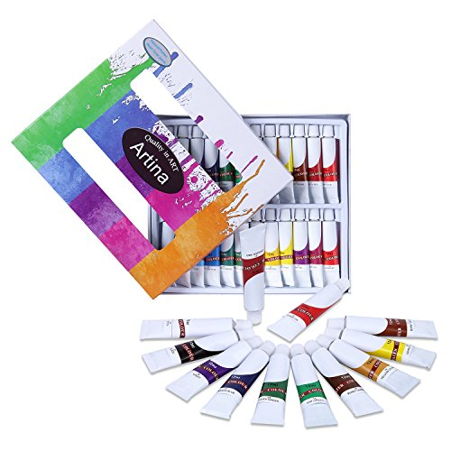 Artina Colaro Aquarellfarben Set 24x12ml Aquarell Farben Künstlerfarben, Farb-Set für...