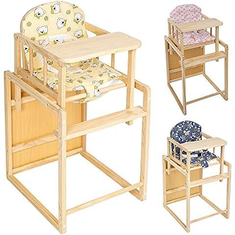 TecTake Bebe bambino bambini seggiolone seggioloni in