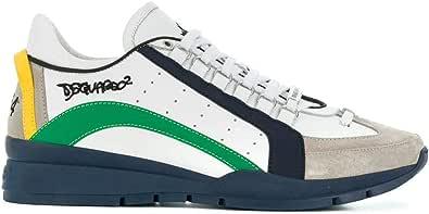 DSQUARED2 Luxury Fashion Uomo SNM040411570001M836 Blu Pelle Sneakers | Stagione Permanente