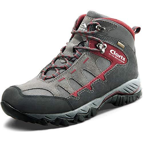 Clorts, Chaussures Montantes pour Homme - - Gris foncé/Rouge, 39 EU