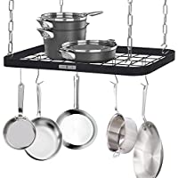 7 Hooks to Hold and Organize Kitchen Tools Pans on Wall Mounted Hanger Bar Rail SUPIA Kitchen Tools Stainless Steel Utensil Hanging Rack Pots Utensils