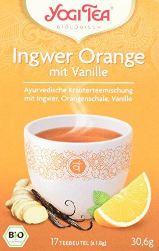 Yogi Tea Ingwer Orange mit Vanille Bio, 3er Pack (3 x 30.6 g) (Bio-orange Ingwer)