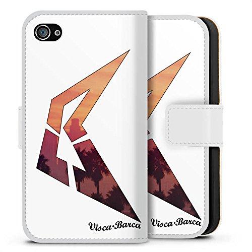 Apple iPhone X Silikon Hülle Case Schutzhülle Visca Barca Fanartikel Merchandise Visca98Barca Youtuber Sideflip Tasche weiß