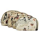 MPK Perfect 4 in 1 set Multipurpose Pouch Organizer Hand Bag Travel Kit - Vintage Pattern