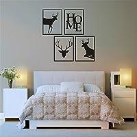 aooyaoo cervo vinile adesivo del modello adesivi muro da salotto decorazione decorazione natalizia 40*30cm 4pcs