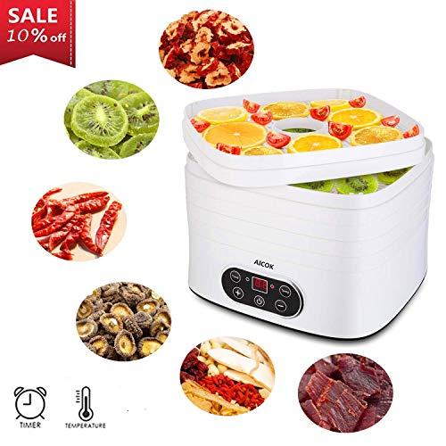 Con el secador de alimentos AICOK, no solo puede preparar una gran variedad de alimentos frescos como frutas, verduras, champiñones, hierbas, sino también bocadillos saludables para su familia. A medida que los alimentos se secan, los sabores natural...