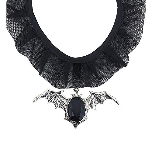 WIDMANN?Collar Murciélago Gótico con Gemma para adultos, Negro, talla única, vd-wdm7129p