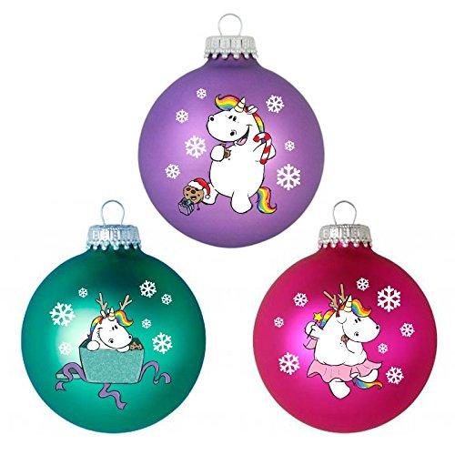 Pummeleinhorn Weihnachtskugeln – X-Mas Pummelfee (3er Set)