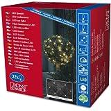 Konstsmide 3748-103 LED Lichternetz / für Außen (IP44) /  24V Außentrafo / 32 warm weiße Dioden / transparentes Kabel