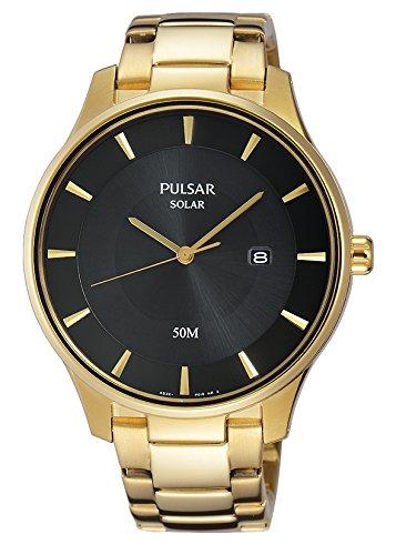 Pulsar Reloj Unisex de Analogico con Correa en Chapado en Acero Inoxidable PX3102X1