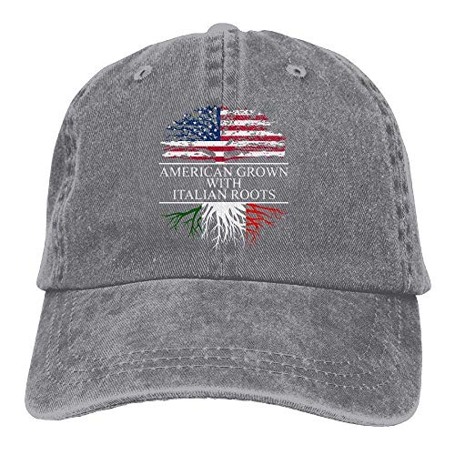 Vidmkeo Unisex Yarn-Dyed Denim Baseball Caps American Grown with Italian Roots Cap Design5 -