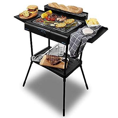 Cecotec Elektro- Grill - Grill aus rostfreiem Edelstahl, Fett- Wanne, Temperatur einstellbar.
