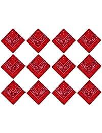 64188213e29 PURECITY© Lot Grossiste 12 Bandana Foulard Coton Motif Paisley Cachemire -  Plusieurs Coloris Disponibles