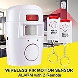 Justdodo Rilevatore di Sicurezza di Allarme Senza Fili del sensore di Movimento del Sistema di Allarme Esterno dell'interno con Telecomando per la casa Garage