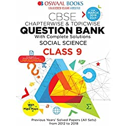 Oswaal CBSE Question Bank for Class 9 Social Science (Mar 2019 Exam)