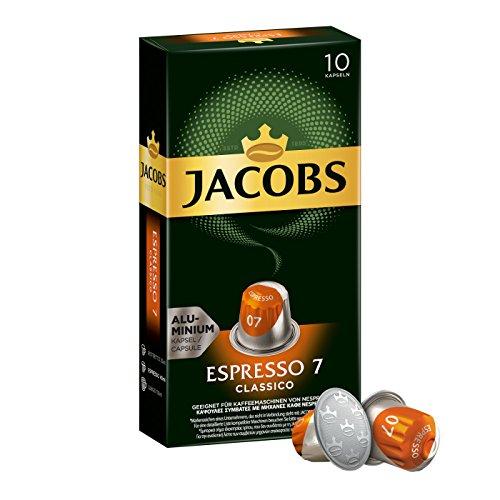 Jacobs Kapseln Espresso Classico - Intensität 7 - 50 Nespresso* kompatible Kaffeekapseln aus...